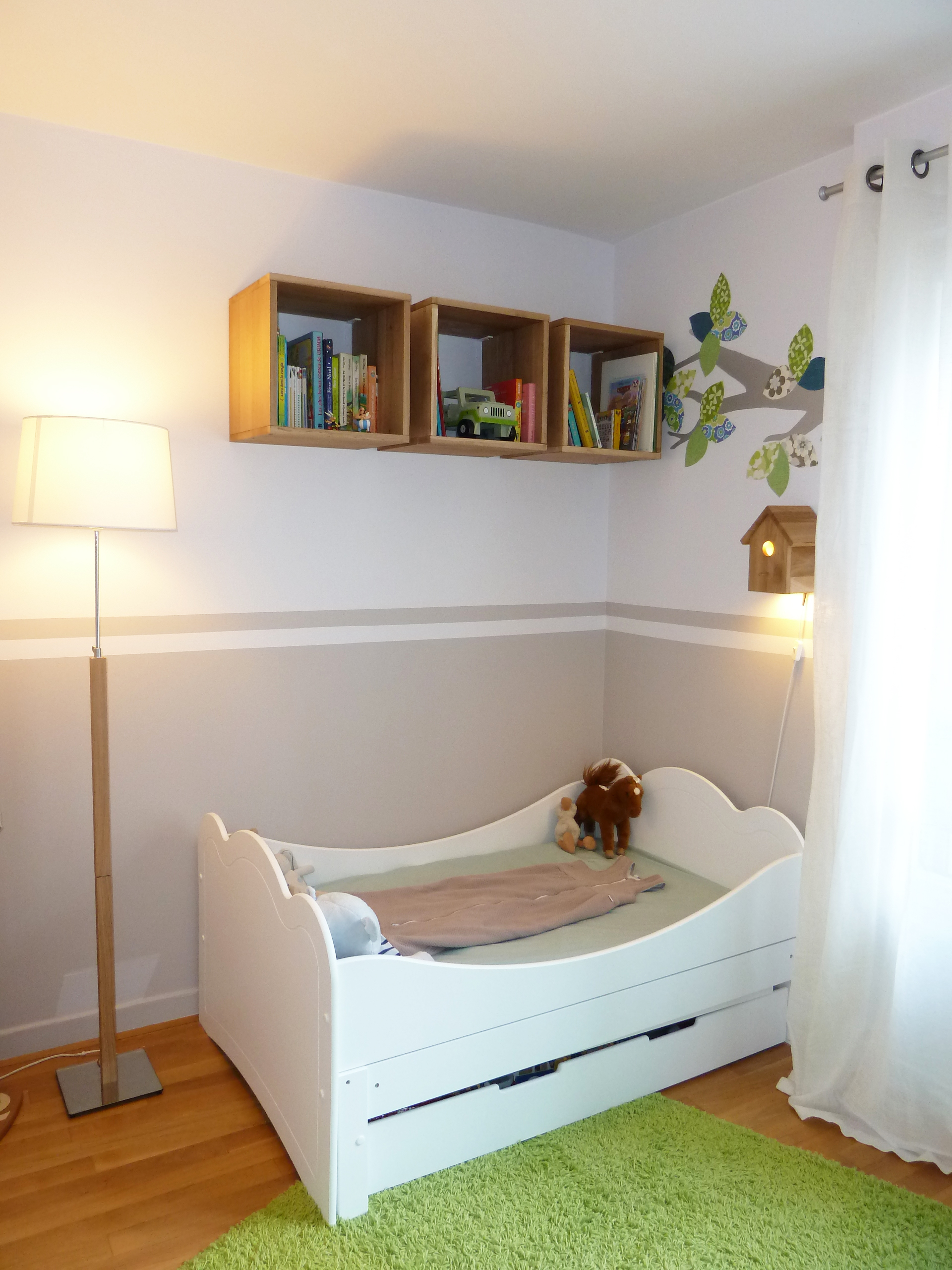 Chambre blanc et taupe awesome chambre blanche en super - Chambre blanche et taupe ...