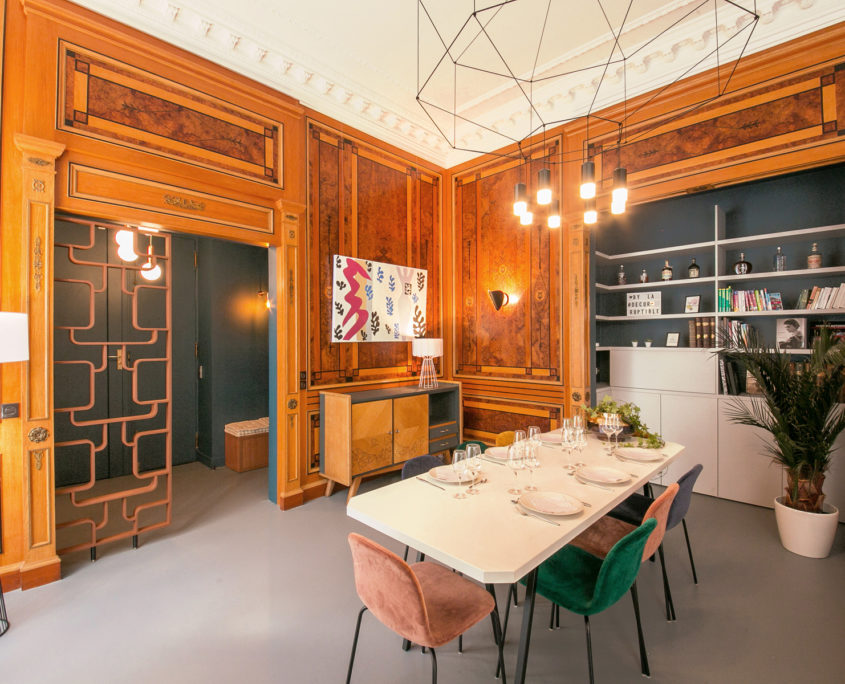 appartement familial royal au parc monceau la decorruptible. Black Bedroom Furniture Sets. Home Design Ideas